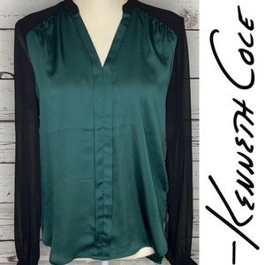 Kenneth Cole Green Blouse